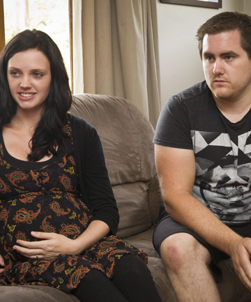 STRESSFUL: Alycia and Jeremy Chisnall talk about the difficult situation they face after Alycia gives birth to twins.