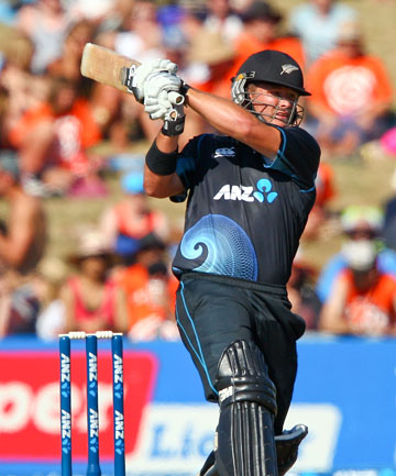IMPACT PLAYER: Corey Anderson's lightning quick 68 not out and his two wickets earned him the man-of-the-match award in the win over India.