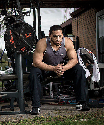 PRISON STORY: Up-and-coming Warriors star Suaia Matagi, at home in West Auckland, tells his story.