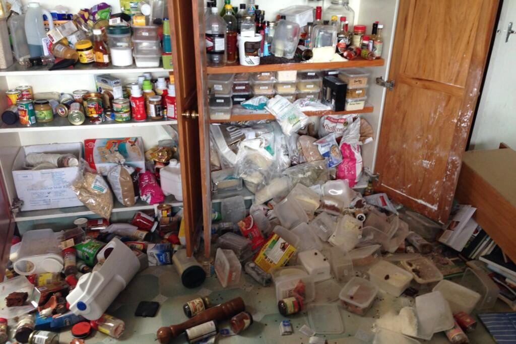 Karen Monks of Masterton tweeted this picture of the contents of her pantry.