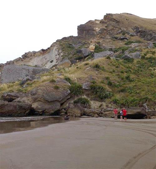 The rockfall at Castlepoint.