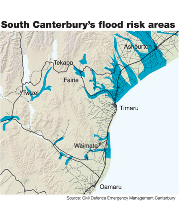 south canterbury flood risk area