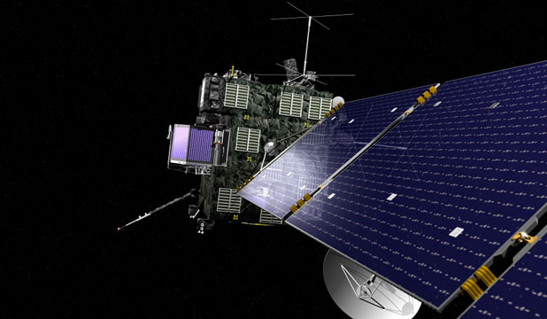 CRUNCH TIME: An artist's rendering of Rosetta, the European Space Agency's cometary probe with NASA contributions.