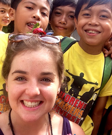 UPLIFTING TRIP: Amy Pollok spent 10 days in the Philippines to learn more about the work done by charities helping people out of poverty.