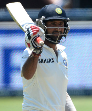 UP-AND-COMER: India's Cheteshwar Pujara has broken in to the international test cricket scene with a bang.