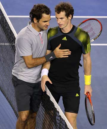SHOWDOWN: Roger Federer and Andy Murray are set for a classic Australian Open quarterfinal matchup on Wednesday night.