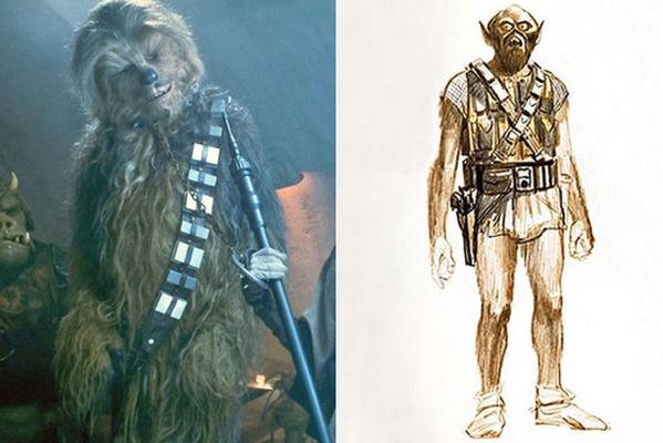 Draft sketches of your favourite movie characters