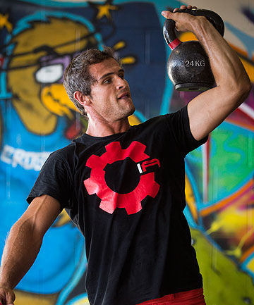 STUBBORNLY STRONG: Kevin Manuel trains for the Hawke's Bay Open CrossFit championships this weekend.