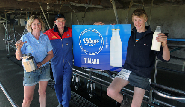 FARMGATE FRESH: Andrea, Stu and Mitch Weir are set to offer customers raw milk.