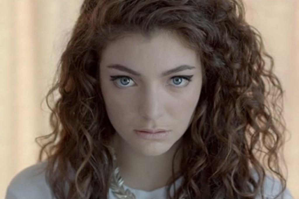 Lorde in the music video for Royals.