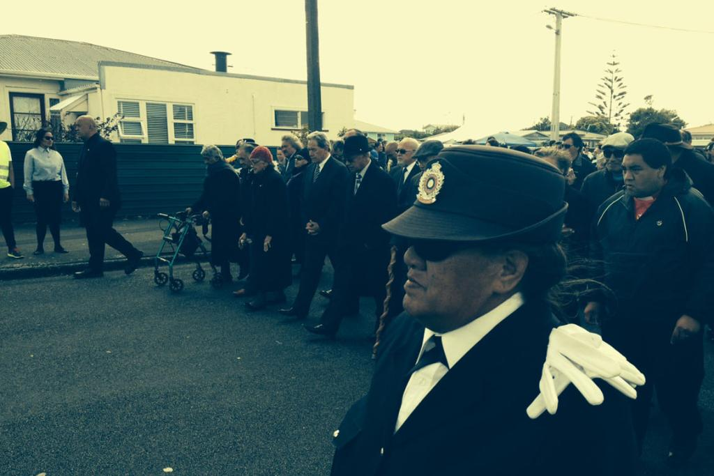 NZ First leader Winston Peters is welcomed at Ratana.