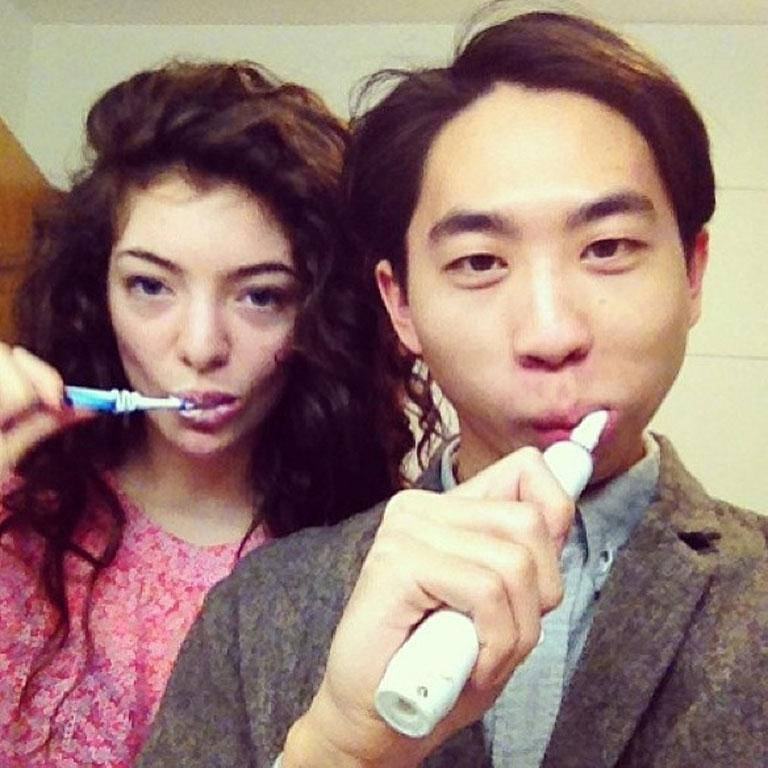 Lorde with boyfriend James K Lowe.