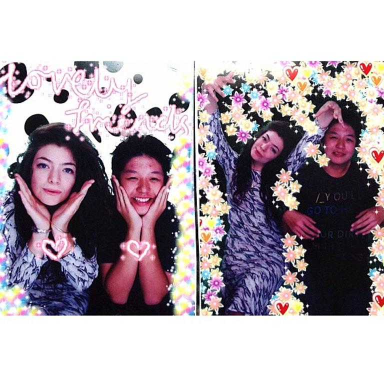 Photobooth shots of Lorde. She's still a teenager!