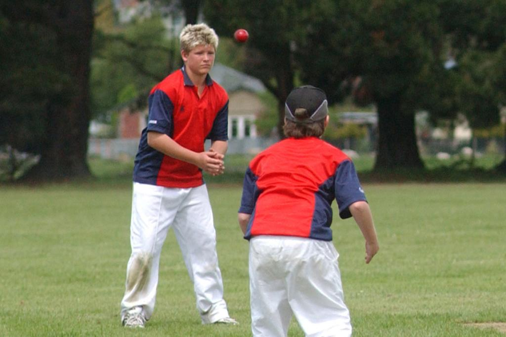 Corey Anderson playing in the Milo Cup in 2003.
