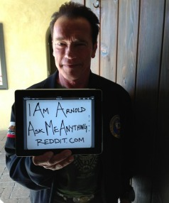 BIG ATTRACTION: Arnold Schwarzenegger is one of several celebrities who have done an AMA (ask me anything) on Reddit.
