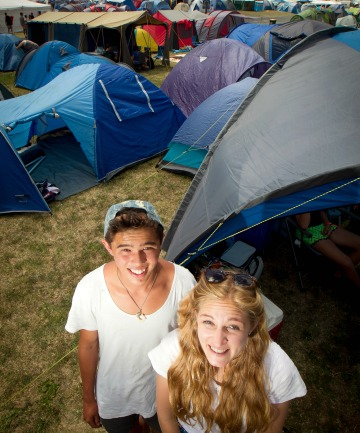 Parachute crew members Carlin Leong, 19, and Miriam Harris, 18