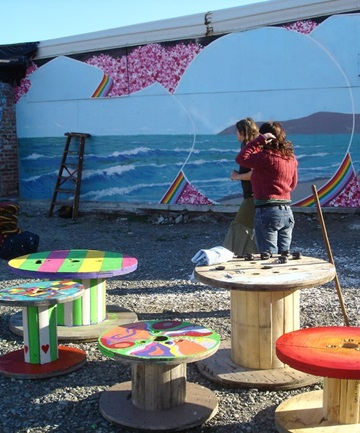SEEN THESE ANYWHERE?: Seven decorated recycled picnic tables have disappeared from New Brighton.