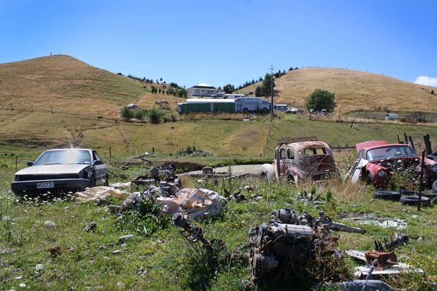 ON NOTICE: Vanessa and Cyril Schonberger have been given three months to clear old vehicles and parts from their property  on Caseys Rd, near Seddon.