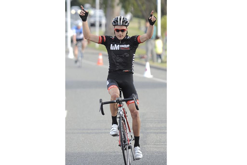 James Williamson wins the 120km Milford Mountain Classic at Te Anau on Saturday evening.