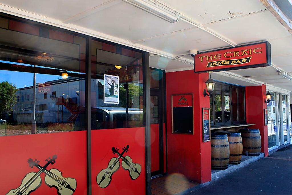 THE CRAIC: The Craic bar on Riccarton Rd was robbed by armed men in December.