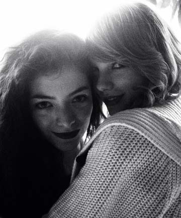 TEAMING UP: Taylor Swift tweeted this photo with Lorde with the message: 'And you know... We're on each other's team. #LORDE #CLEANINGUP #GRAMMYs'.