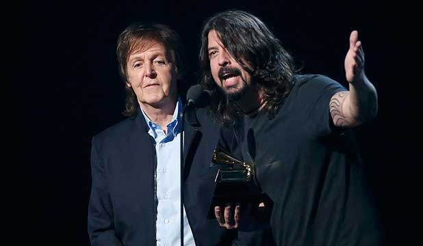 CONFUSIION: Paul McCartney didn't realise he was jamming with Nirvana.