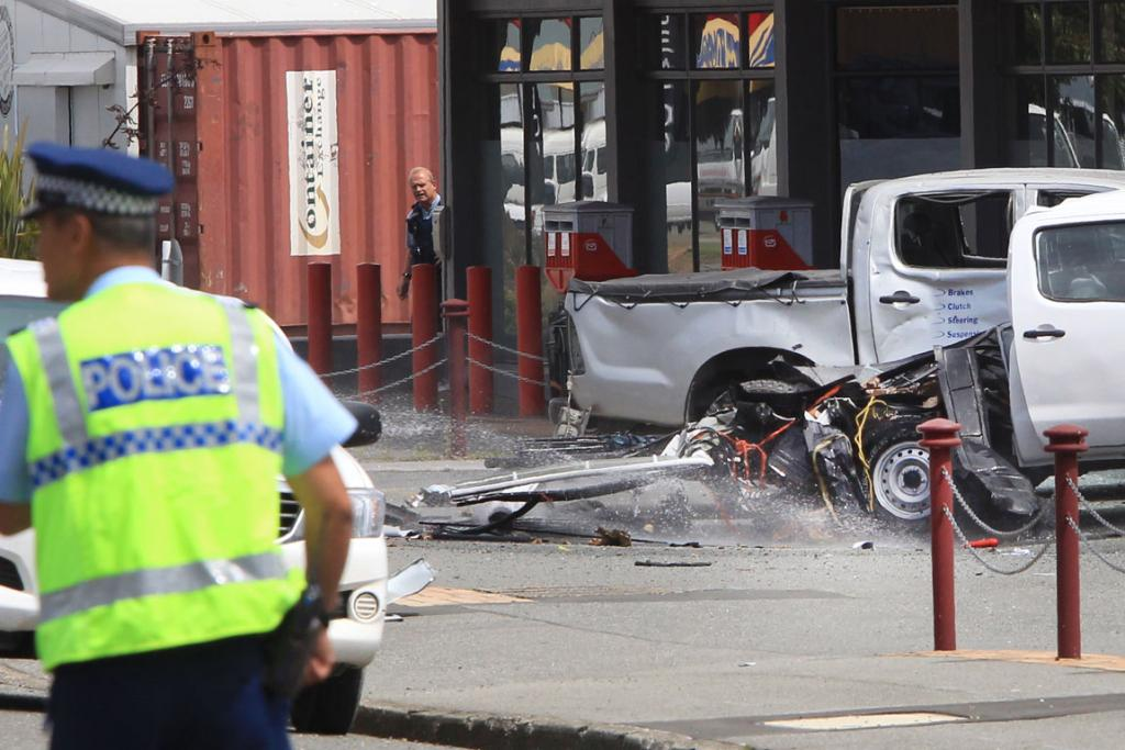 Images from a gas bottle explosion in Clyde St, Invercargill on Monday, January 27, 2014.