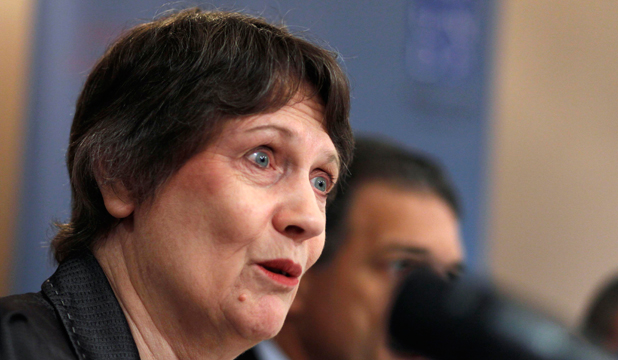 Helen Clark, seen during a November news conference in Bahrain, has opened up about her life to the Guardian newspaper.