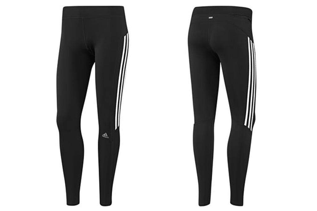 THE FULL-LENGTH TIGHTS: Adidas Response Long Tight, $54.19 from wiggle.co.uk. If you're not so into the way capri tights cut your legs in two, but want something more covered up than shorts, full-length tights are your answer. This pair is made from that great fabric that will keep you dry plus the reflective details are perfect for that evening run. All for under 55 bucks? Sold.