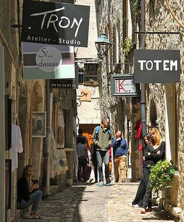 BEYOND THE RAMPARTS: Mediaeval alleys and St Paul de Vence's arts scene charms visitors.