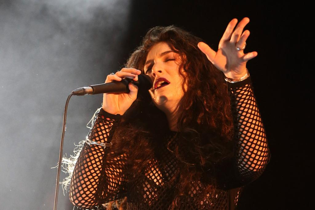 LORDE SINGS: The double Grammy winner arrived back in Auckland from LA hours before her concert.