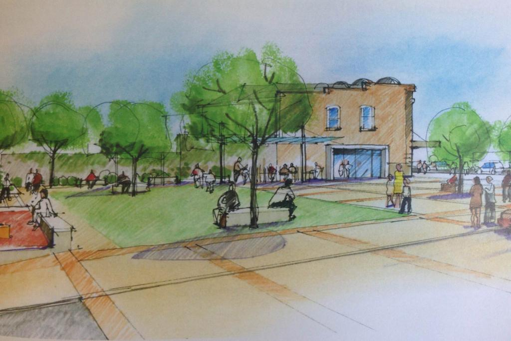OPEN SPACE: One of the draft designs from the Draft Ponsonby Rd Masterplan with maximised open space at 254 Ponsonby Rd.