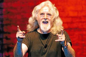 BACK THEN: Billy Connolly amusing a packed out Trafalgar Centre audience in 2009.