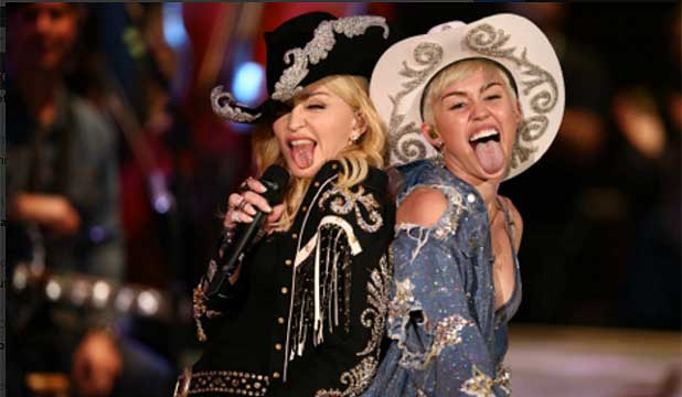 Madonna and Miley Cyrus