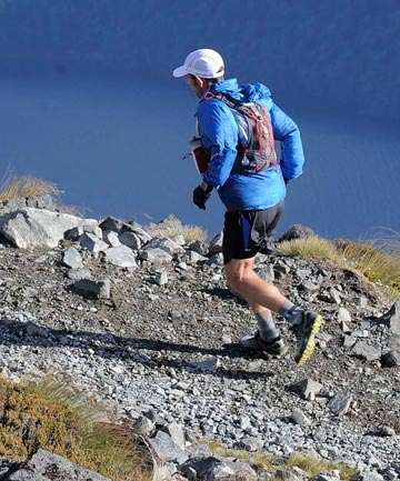ENDURANCE FEAT: Malcolm Law during the Kepler Challenge at Te Anau last year.