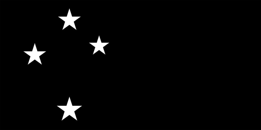 Simple and bold New Zealand flag