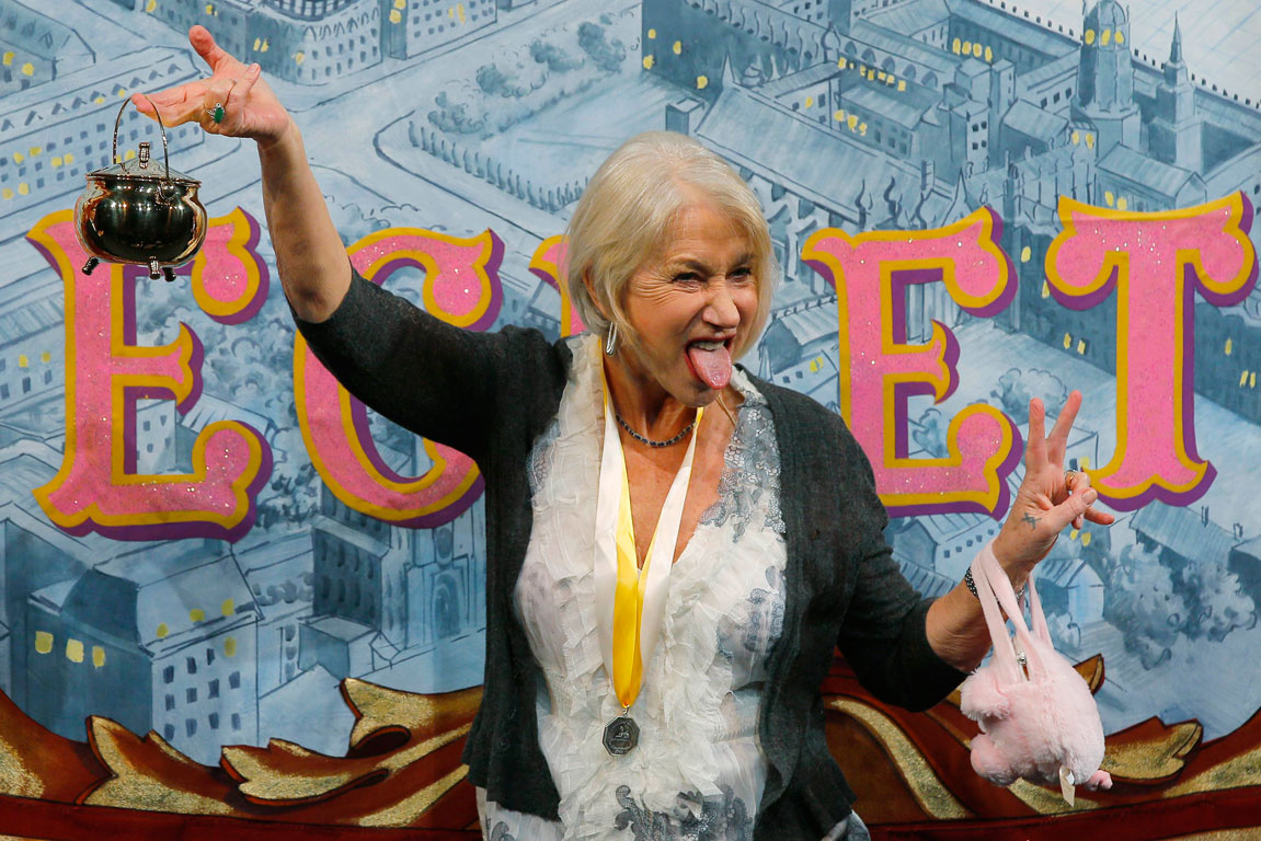 Helen Mirren wins the Pudding Pot award