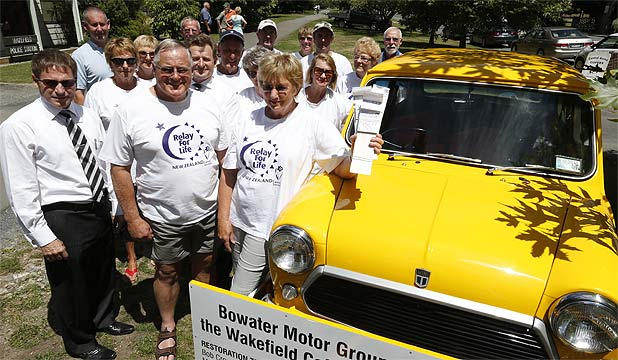 TEAM EFFORT: The group behind the Mini for Nelson Cancer Society fundraising project mark a successful end to their initiative.