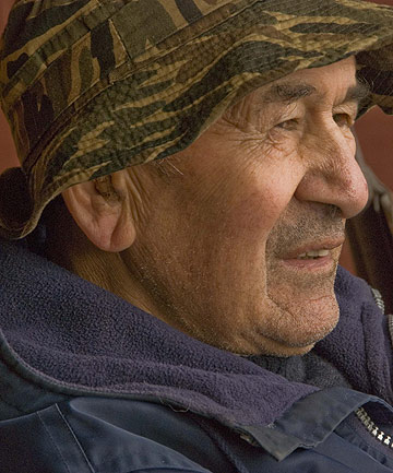 Tim Te Aika, the last Stewart Island farmer, in retirement.