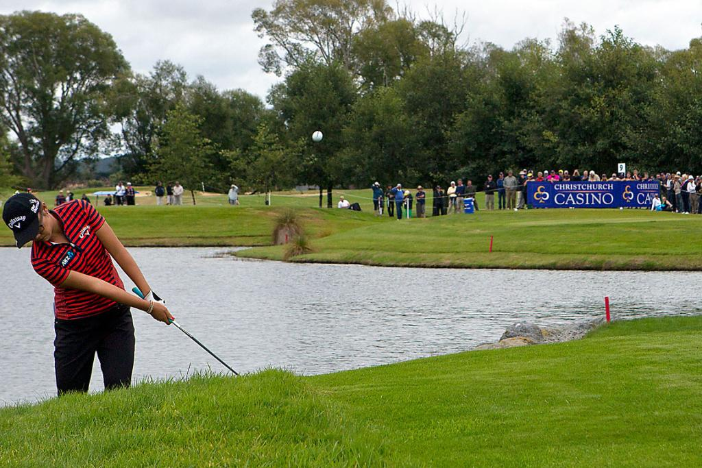 CROWD-PLEASER: Thousands came to watch Lydia Ko play.