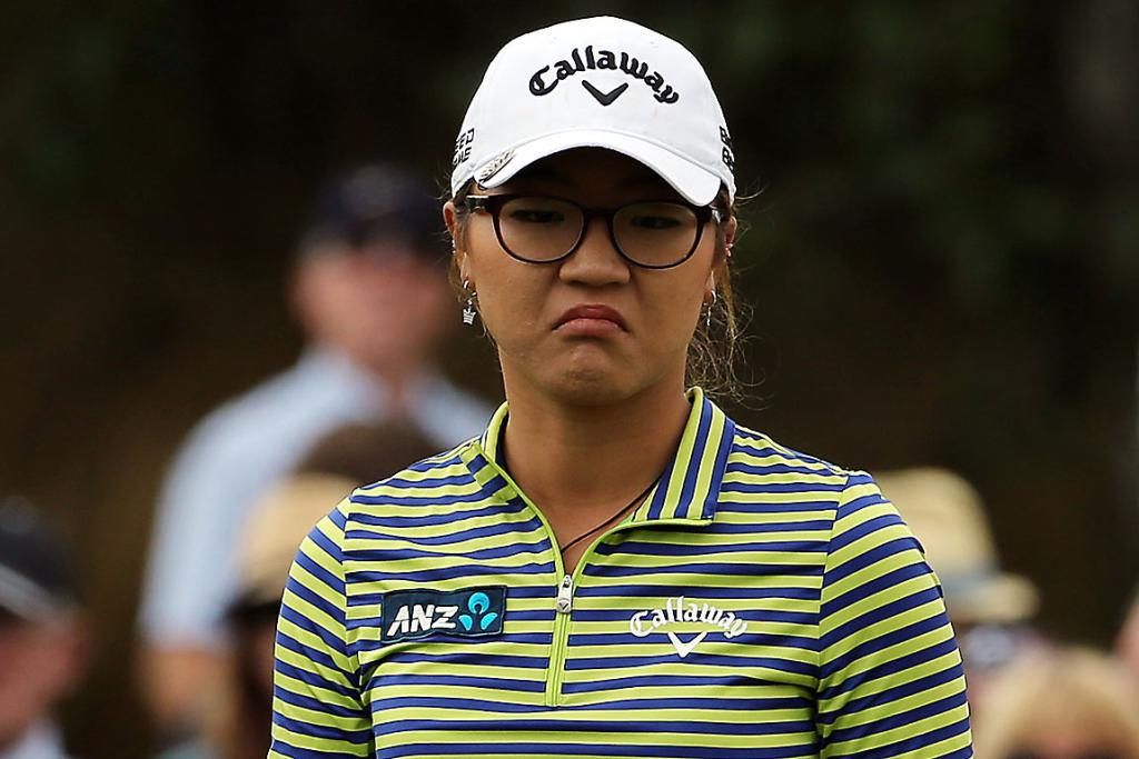 NOT HAPPY: Not every shot goes perfectly for Lydia Ko.