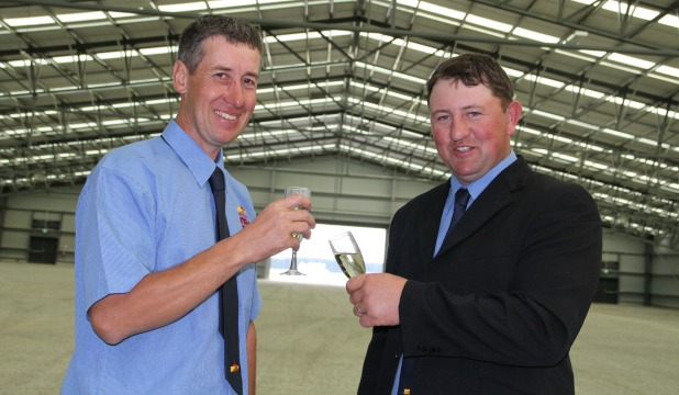 Project co-ordinator Stan MacGibbon and Southern Field Days chairman Mark Dillon