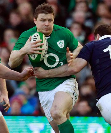 TOO EASY: Ireland overcame the late withdrawal of captain Paul O'Connell to beat Scotland 28-6 in the Six Nations.