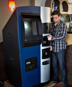 A Bitcoin ATM that opened last year in Vancouver, Canada.