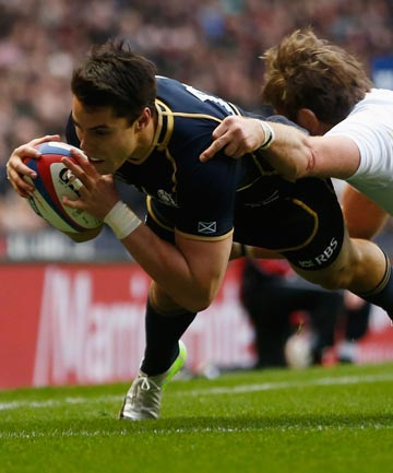 BIG BLOW: Scotland winger Sean Maitland has been ruled out of the Six Nations Championship match at home to England.
