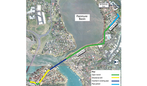 WATER FEATURE: This map shows where Watercare is undertaking work around the Panmure Basin.