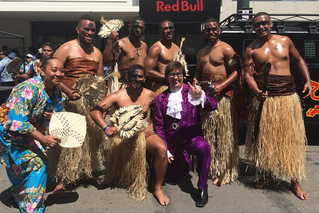 Dancers bring some Fijian flavour to proceedings ... along with international man of mystery, Austin Powers
