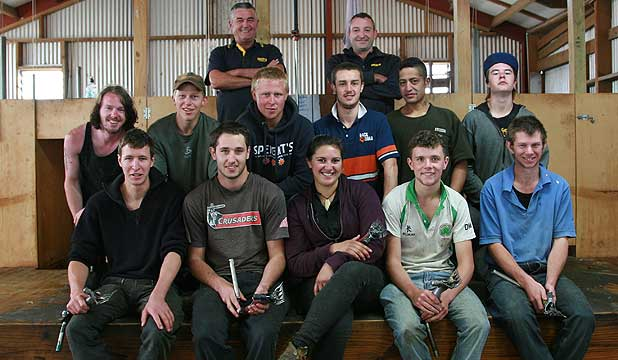Shearing students