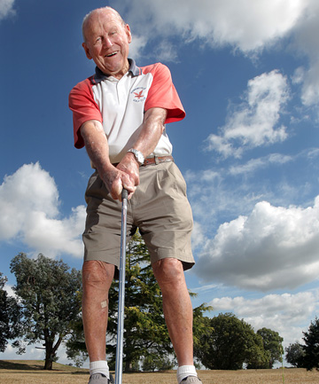 MORRINSVILLE MARVEL: At the age of 90, Mick Conroy has shot an 86 at Morrinsville Golf Club, his 20th score under his age.