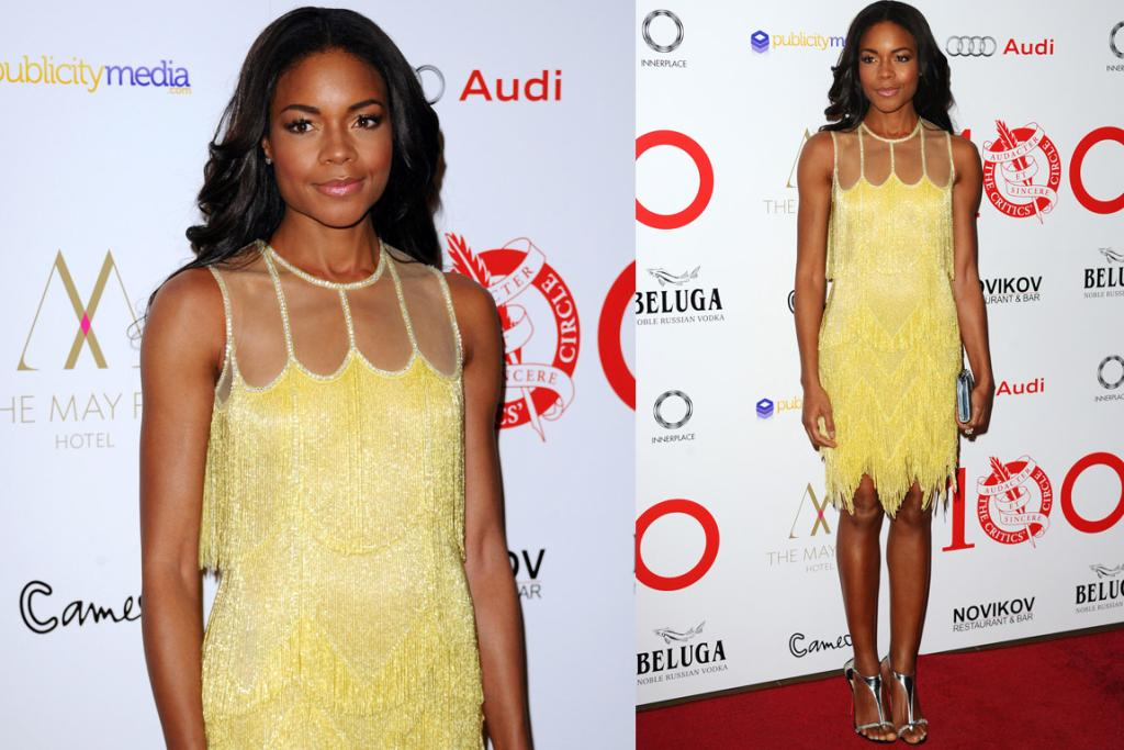 THE GOOD: While I'm not the hugest fan of Naomie Harris' shoes in this context, I just adore this Naeem Khan flapper dress on her. It's fresh, and she deserves a big slow clap for pulling off yellow fringe.